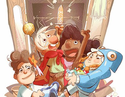 """Kids and Dragons"" - children book portfolio"