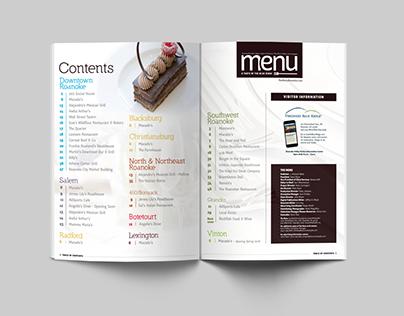 The Menu - magazine design