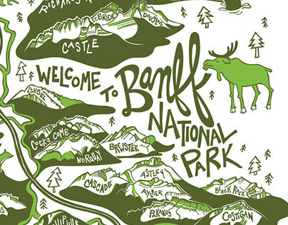 Illustrated Map of Banff National Park