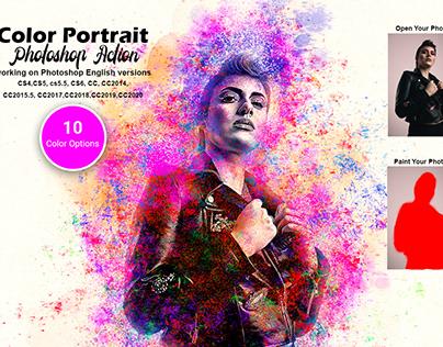 Color Portrait Photoshop Action