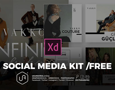 SOCIAL MEDIA KIT - Adobe XD