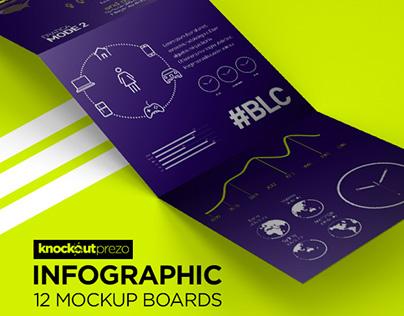 Knockout Prezo Infographic Mockup Board