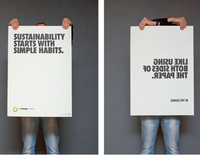THE CHANGE INITIATIVE | Double Sided Poster