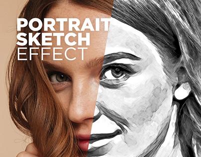 Free Photoshop Action Portrait Sketch Effect #6