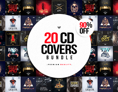 20 CD COVER TEMPLATES BUNDLE