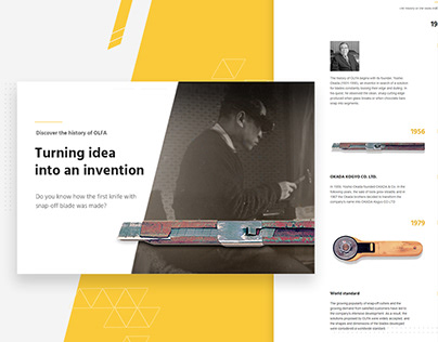 History of OLFA - web design UX/UI