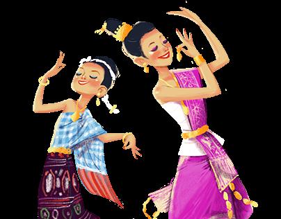 Lao Dancers & Musicians