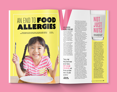 """An End to Food Allergies"" Magazine Feature"