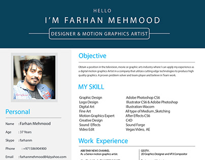 Motion Graphics CV