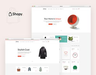 Shopy - eCommerce Website, UX/UI Design