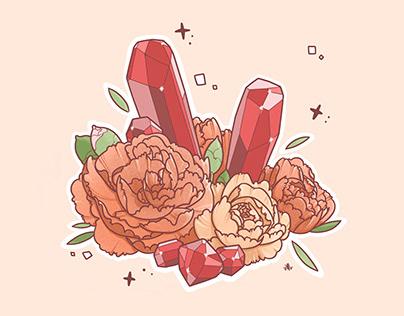 Flower & Gemstone: January