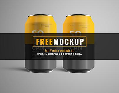 Soda Can Mockup Pack