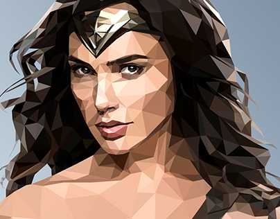 Wonder Woman - Low-Poly