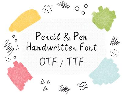 Pencil & Pen Handwritten Font