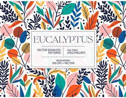 EYCALYPTUS seamless patterns