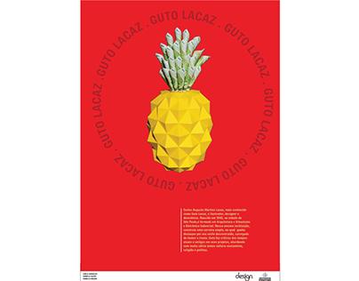 Poster Grandes Designers Brasileiros - Guto Lacaz