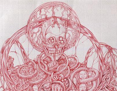 redBallpoint pen Dark Art-2