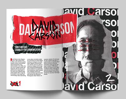 David Carson Magazine Spread Design