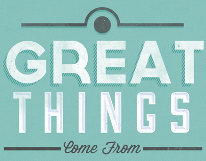 Great Things...