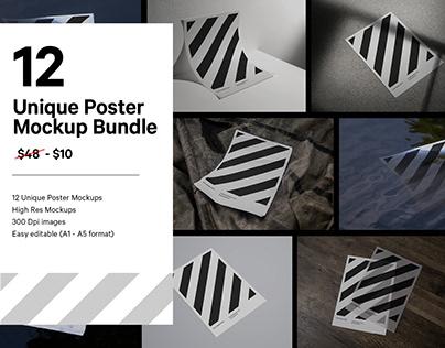 Paper Poster Mockup Bundle