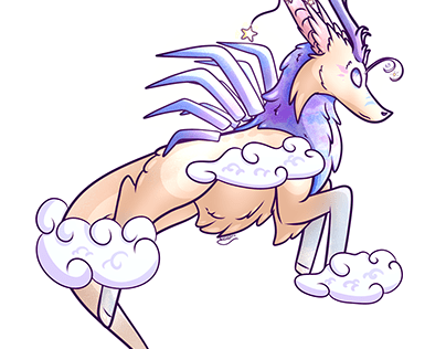 Floating Through Clouds - Commission