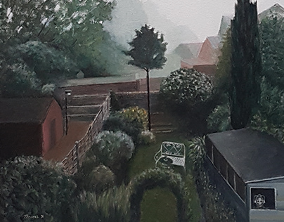 Misty Morning (there's a cyberman in my shed)
