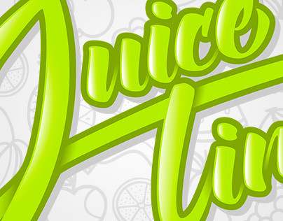 Juice In Time - Lettering e Identidade Visual