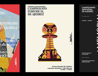 Posters on First Memorial César Manrique