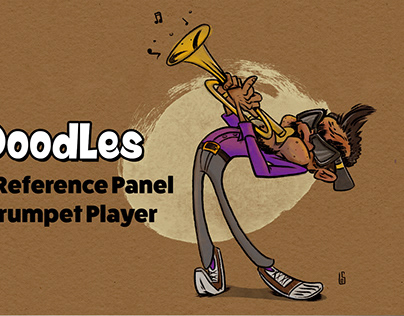Procreate Reference Panel and the Trumpet Player