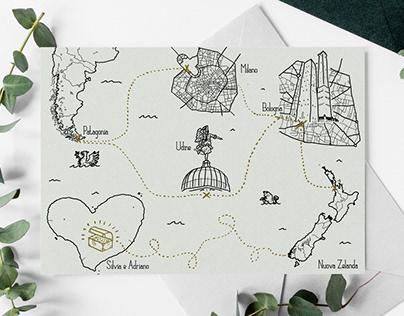 Wedding card map