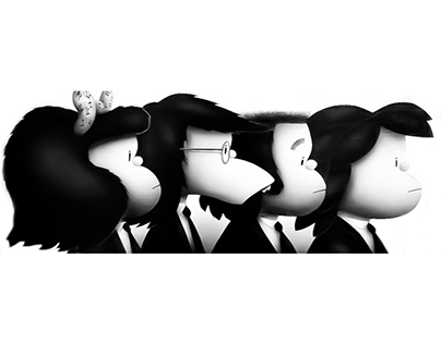 The Beatles by Quino