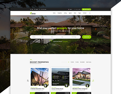 Benaa - Real Estates PSD Template