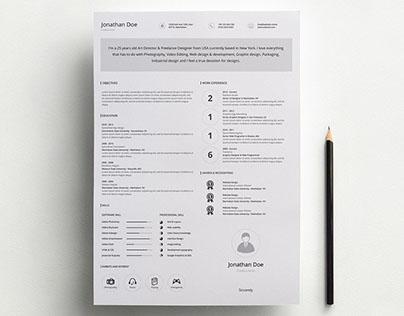 Free Simple Resume Template (AI)