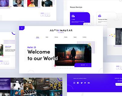 Astronautas Filmes Web Site