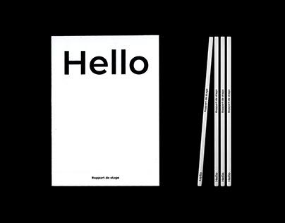 Rapport de Stage - Hello