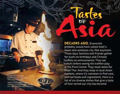 "Evansville Living Feature – ""Tastes of Asia"""