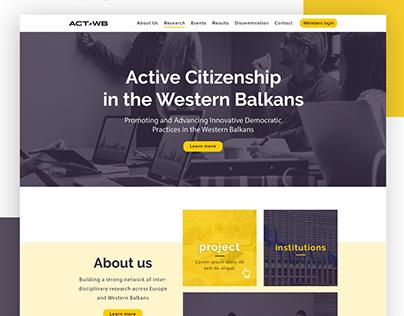 ACTWB_Website design