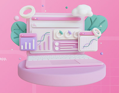 3D Illustration, Computer SEO