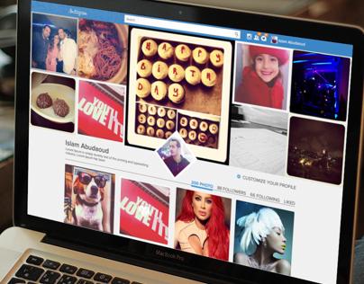 Instagram web design concept