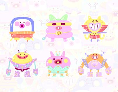 Character design - Robots