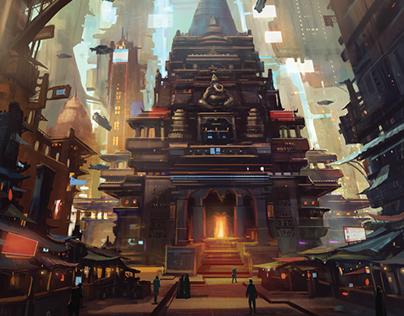 Mumba Temple - Netrunner Artwork