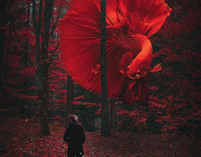 Digital Art Red Fish