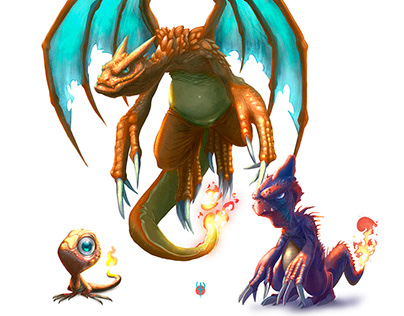 Charmander evolutionary line