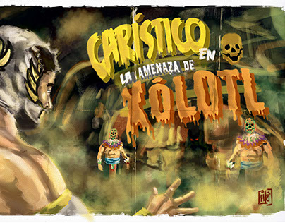Cartel for the CMLL(Day of the deads in the Arena Mex)