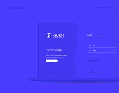 Education Dashboard (ad ludum) UX/UI Interaction Design