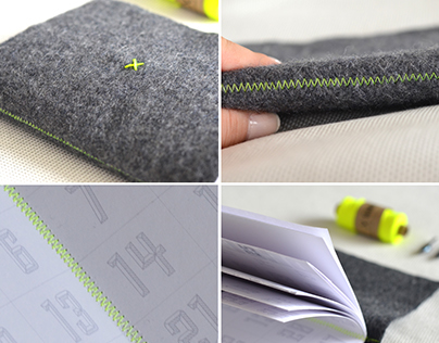Handmade 2016 planner with organic wool cover