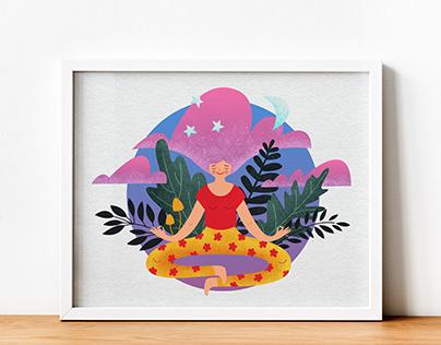 Illustration for inspiration to do meditation