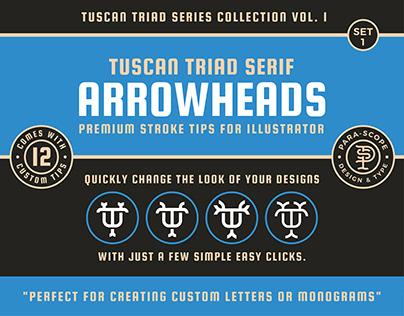 Tuscan Triad Arrowheads Set 1 - Stroke tips