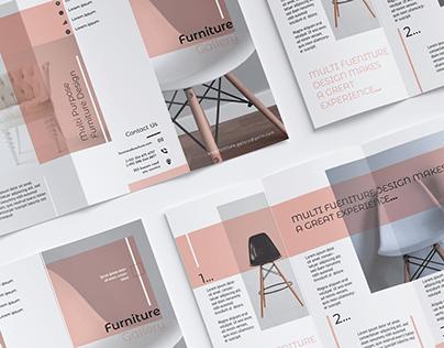 ( Furniture Shop ) Tri-fold Brochure.