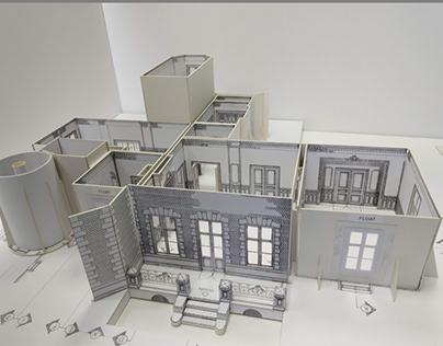 Brzezie Kronenberg's Palace - White card model